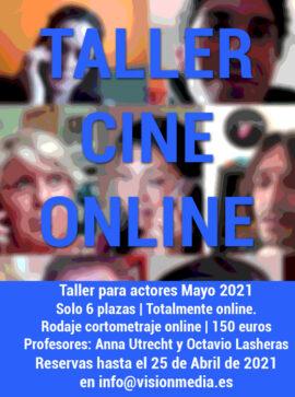 Cartel Taller Cine Online Mayo 2021